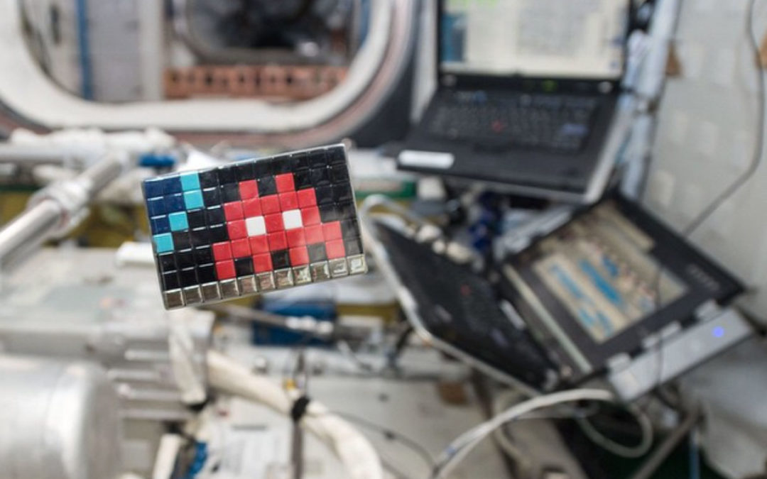 Space Invader Invades Space