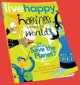 Jayme Illien featured in this month's Live Happy magazine